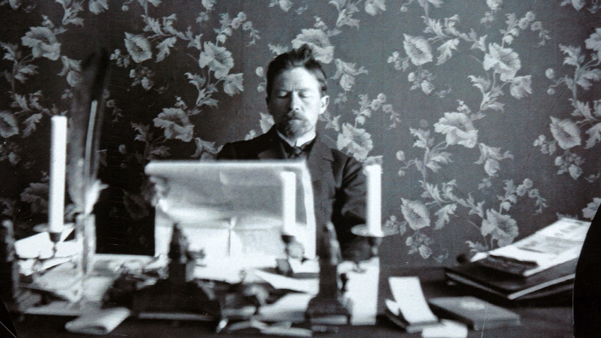 Anton Chekhov at work