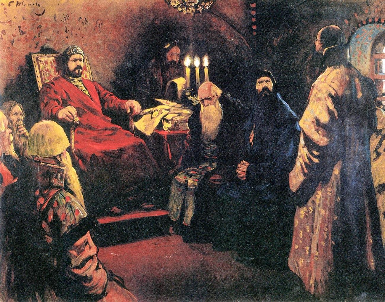 In 1566, Viskovatiy took part in the Zemsky Sobor (national assembly of the land).