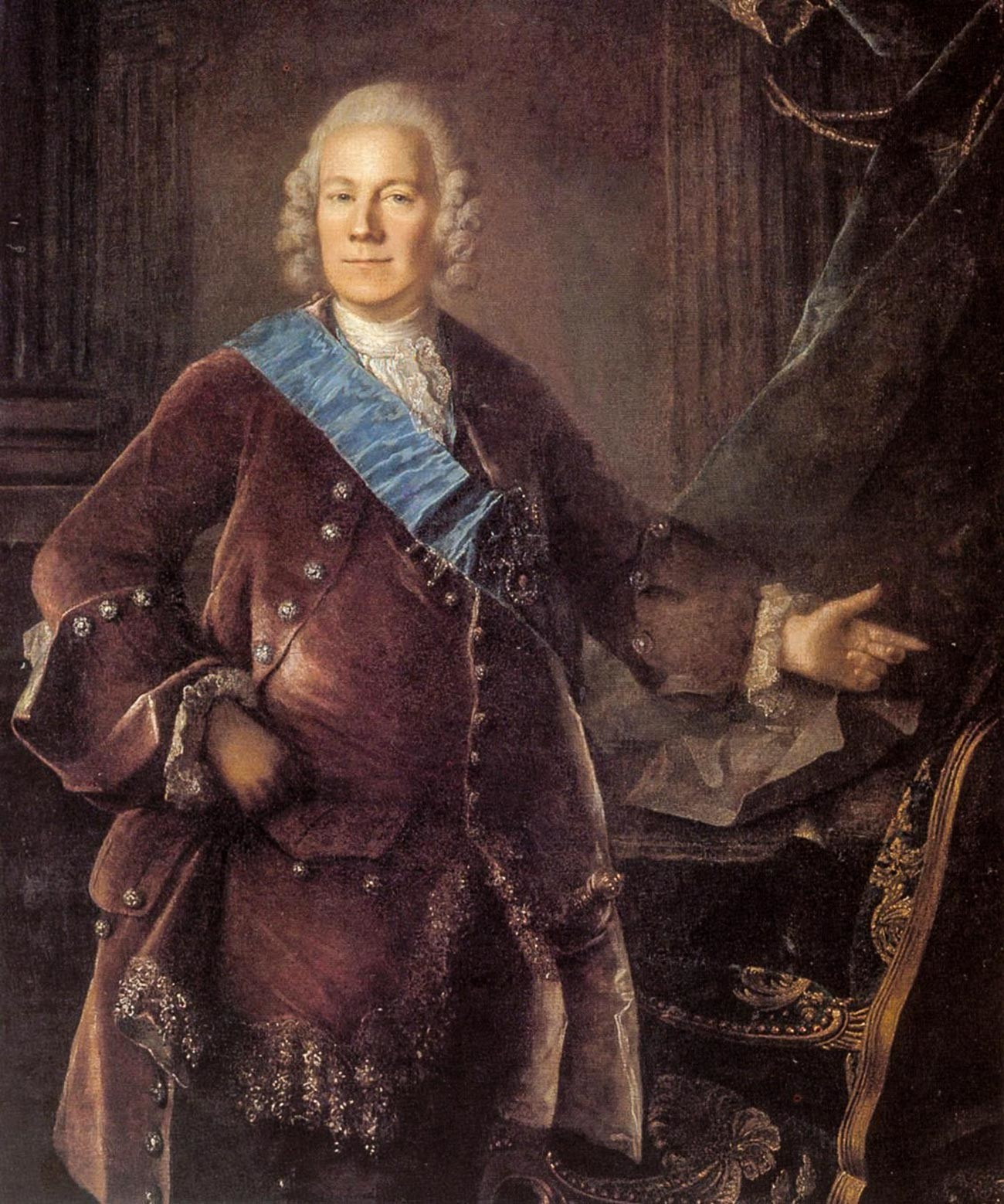 Salah satu diplomat paling dihormati di abad ke-18, Pangeran Aleksey Bestuzhev-Ryumin.