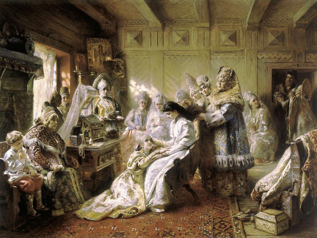 La tenue d'une mariée russe. Constantin Makovski