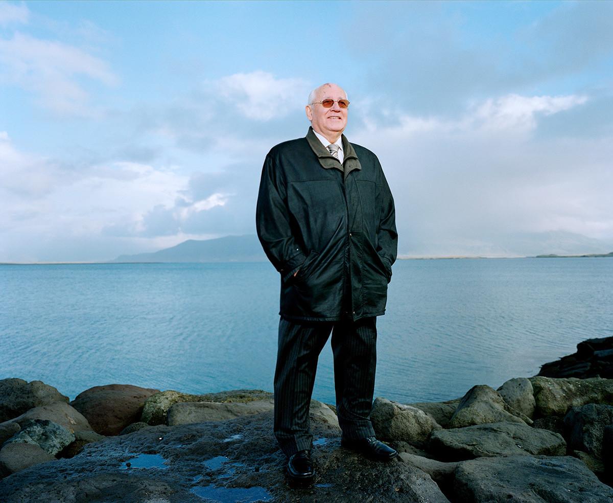 Gorbatschow in Reykjavik im Oktober 2006