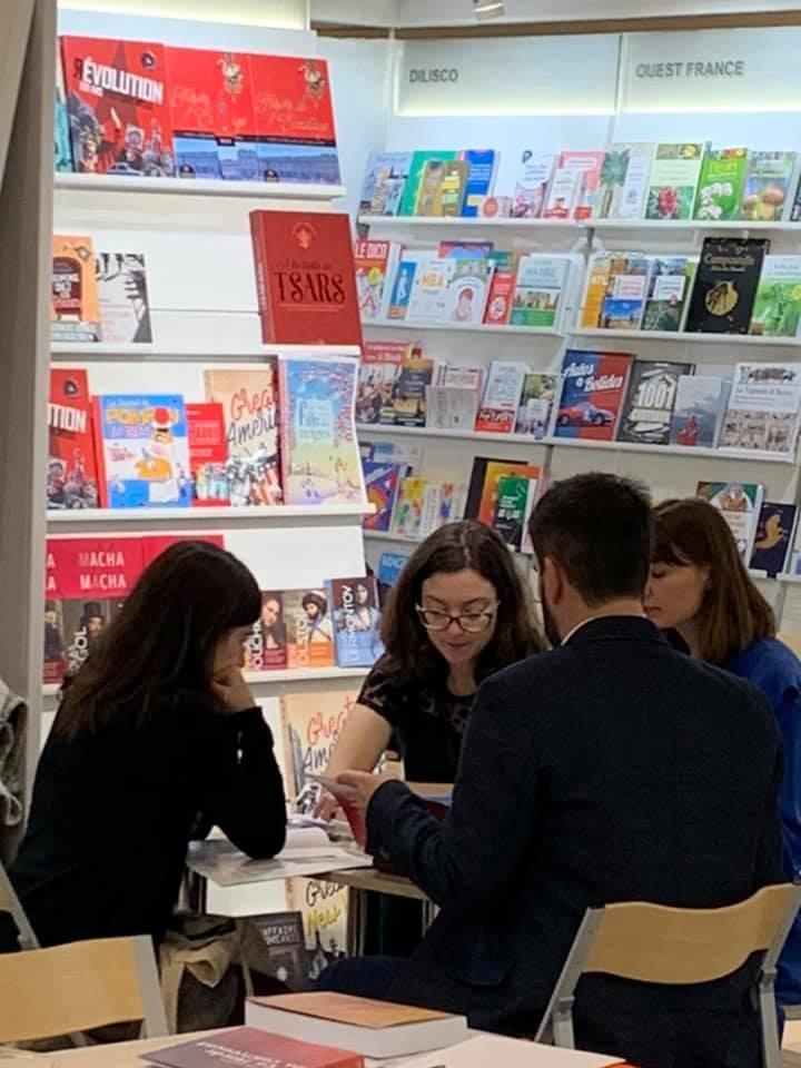 Les éditrices de Macha Publishing en rendez-vous durant la Foire de Francfort 2019