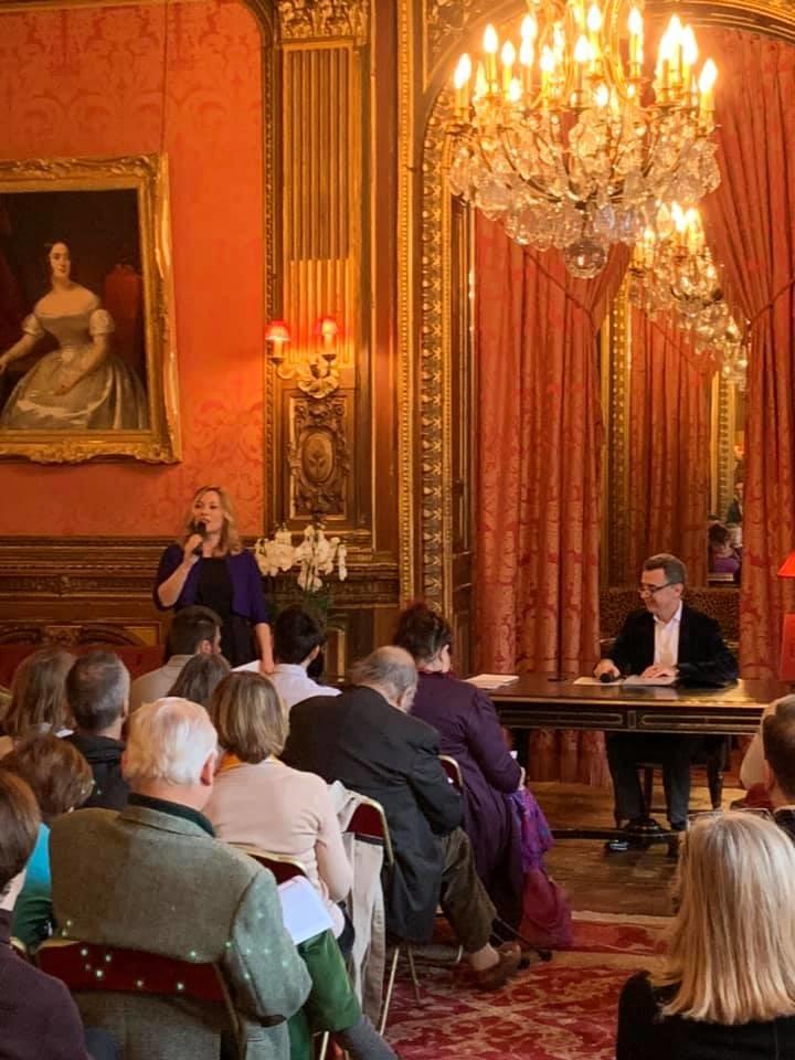 Conférence de Nicolas de la Bretèche à l'hôtel de la Païva à l'occasion de la sortie de son beau livre À la table des tsars, publié en novembre 2019