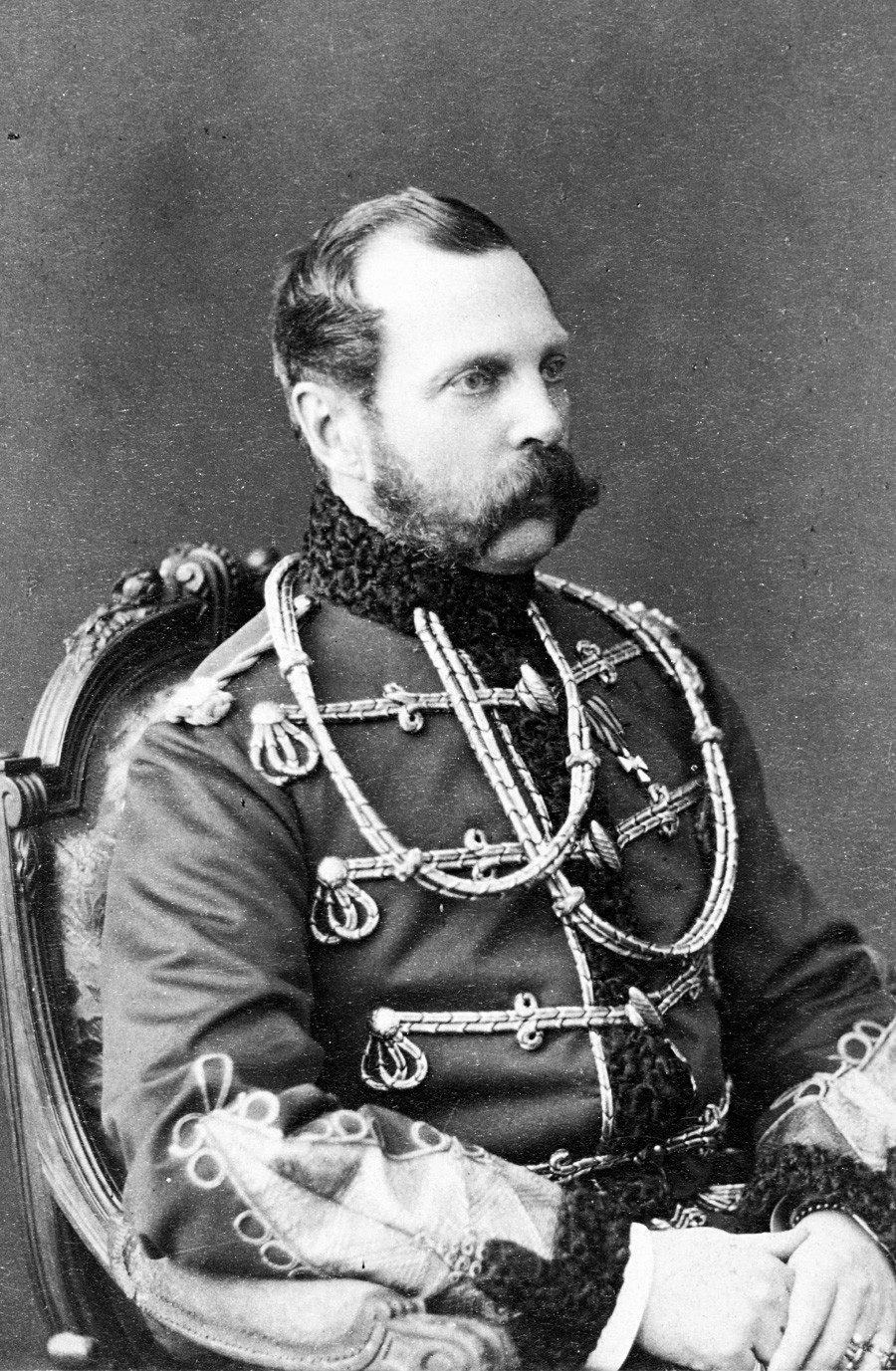 O tsar Alexandre 2°, imperador da Rússia entre 1870 e 1886.