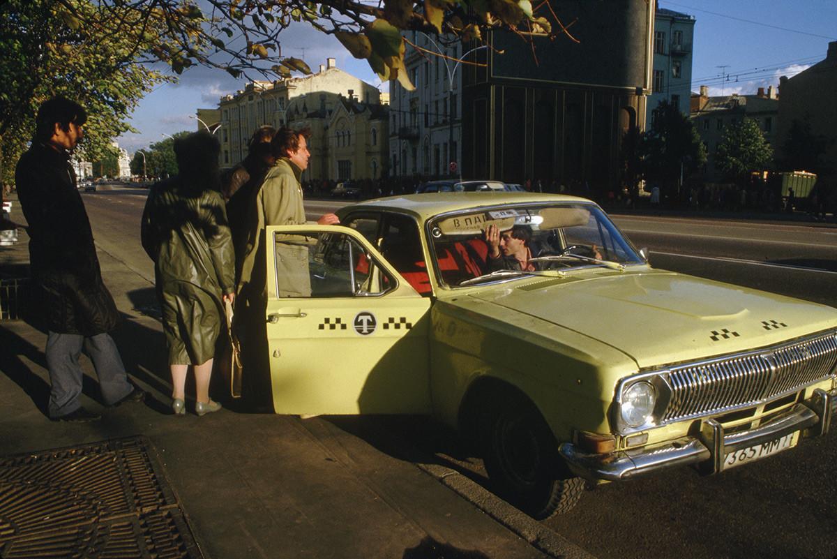 Un taxi moscovite