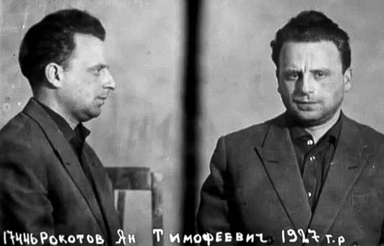 Pedagang pasar gelap Soviet Yan Rokotov yang dijatuhi hukuman tembak mati.