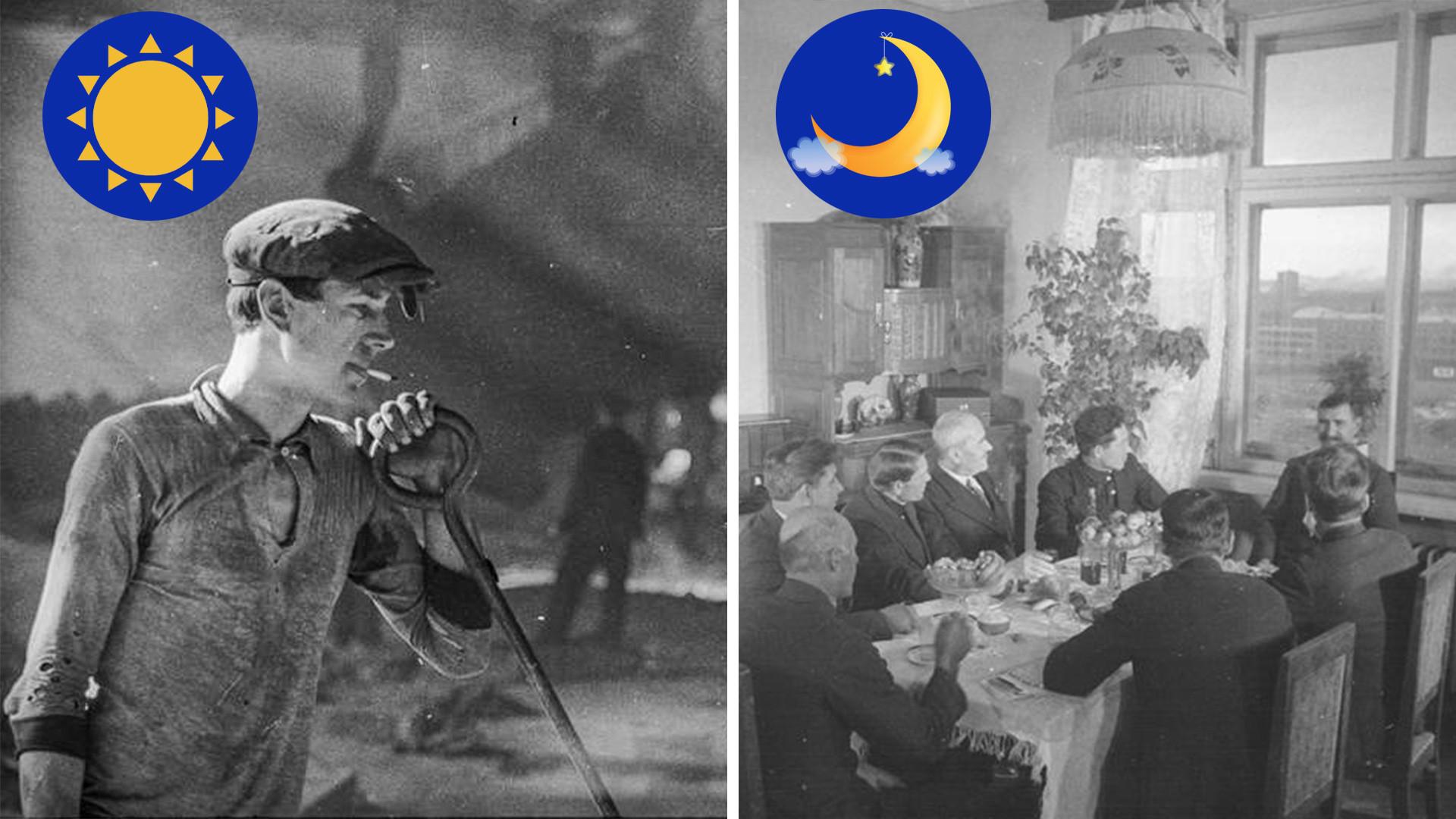 Днем на заводе, вечером в коллективе - так представляли себе архитекторы жизнь нового советского человека.