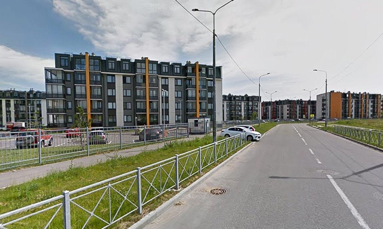 Kameronovskaya street in Pushkin