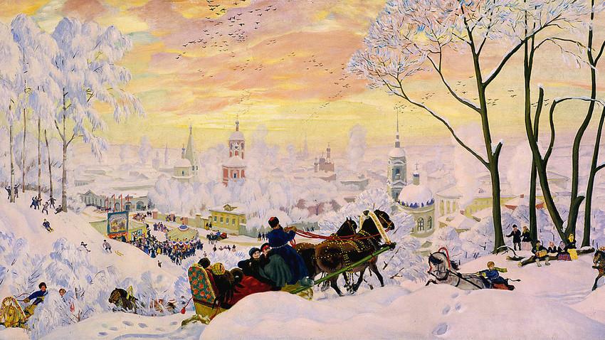 Борис Кустодиев «Масленица», 1916