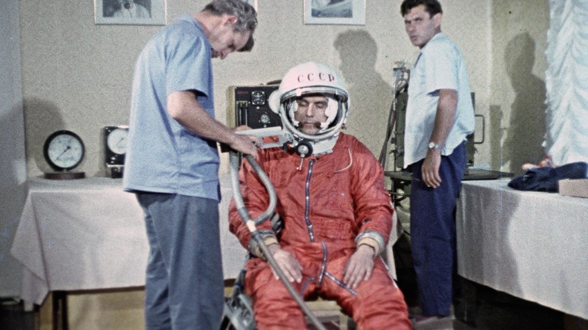 Vladimir Komarov before the fatal accident.
