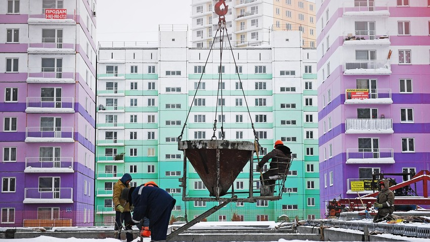New residential complex in Novosibirsk.