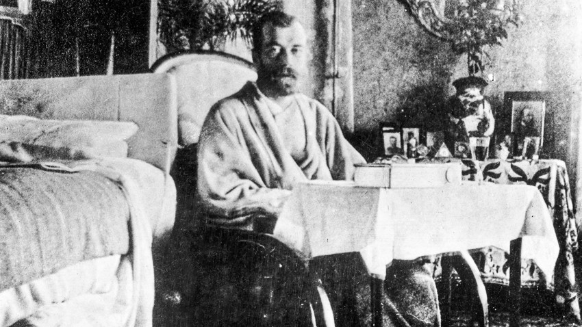 Nicholas II in Crimea, recovering from typhus