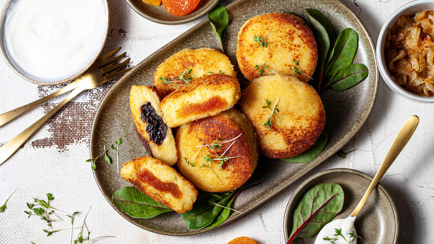 Crispy outside, tender inside, with a sweet secret filling: Russian vegan croquettes will become a celebrated part of your recipe collection.