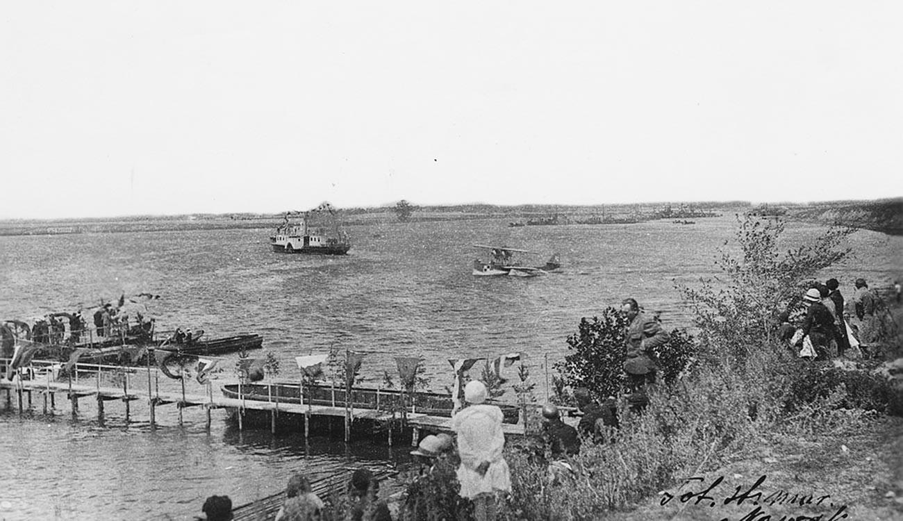 «Адмирал Серпинек» у Городища, 1930 год.