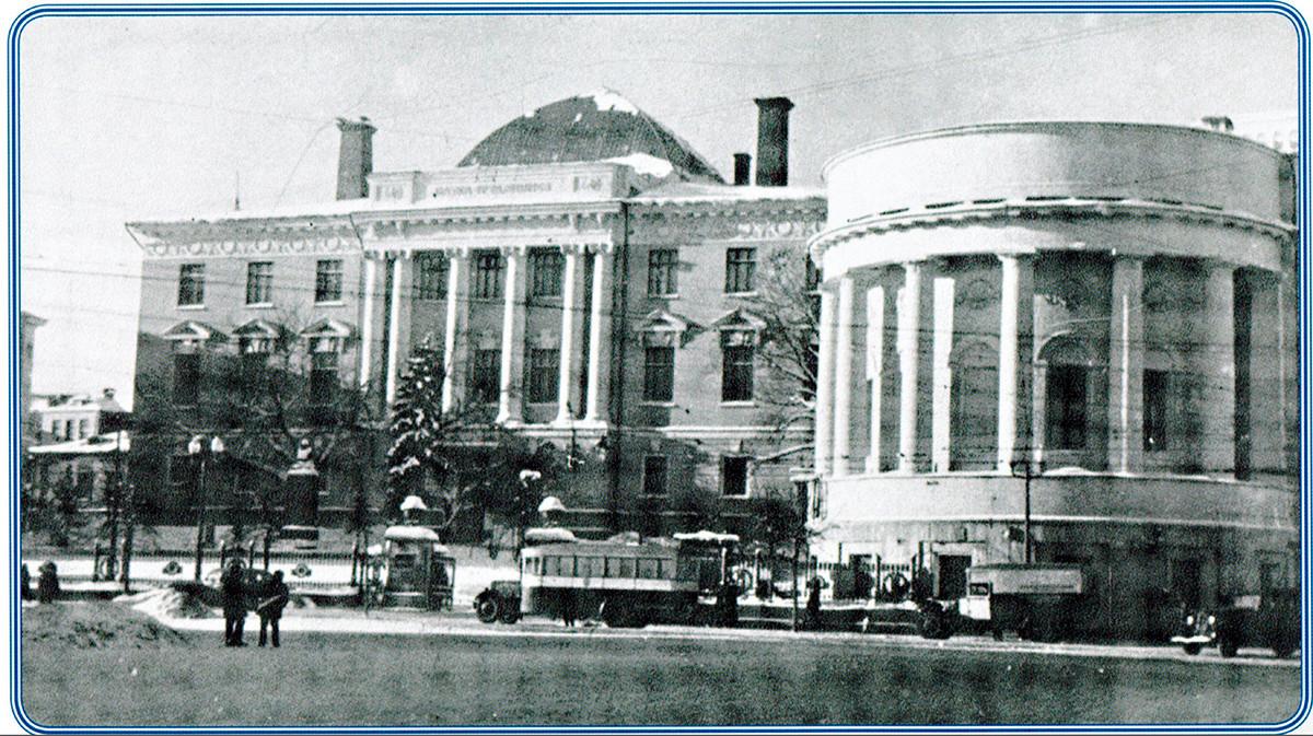 Stavba Moskovske državne univerze v letih 1936-1941.