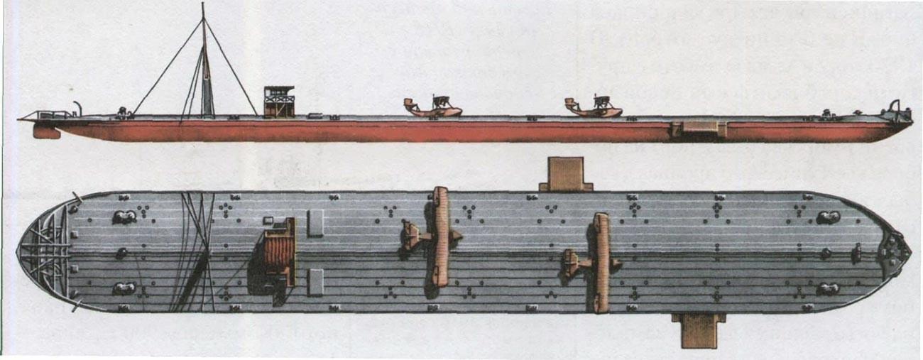 河川空母「コムーナ」の構造