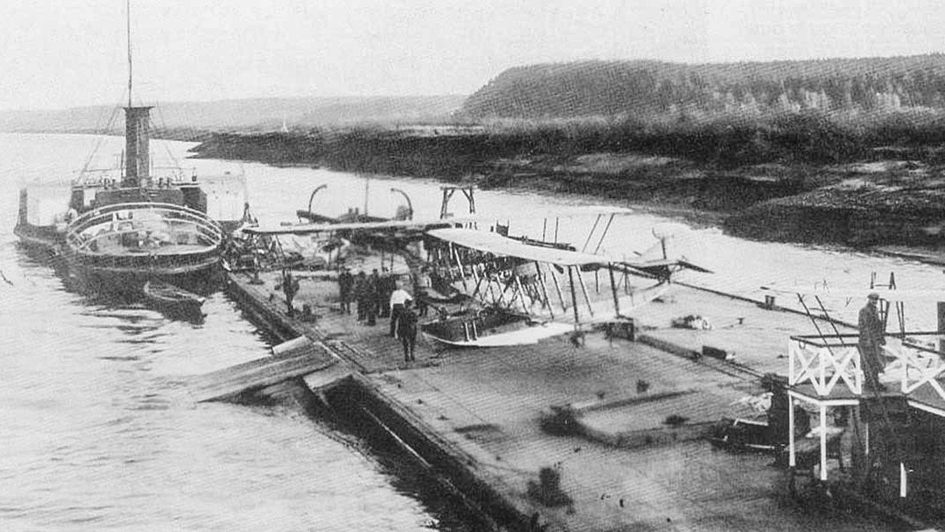 水上機母艦「スヴォボダ」、1918年