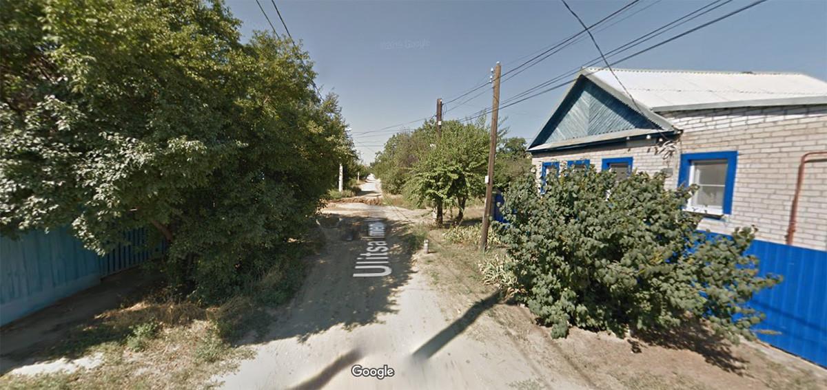 """Улицата """"Марк Твен"""", Волгоград."""