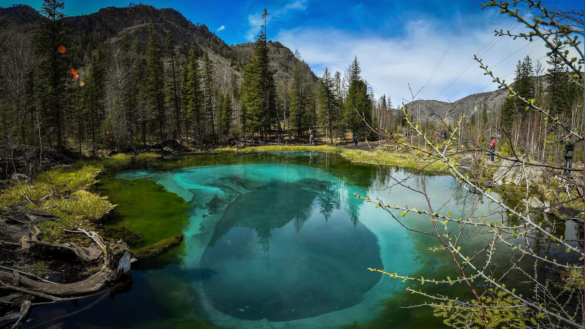 Slano jezero Sasik na Krimu.