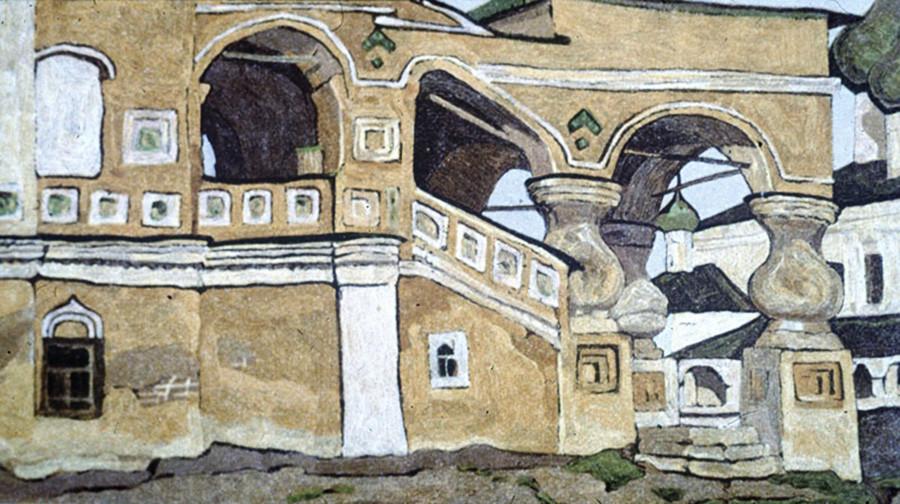 Nicholaj Roerich. Uglič. Veranda, 1904