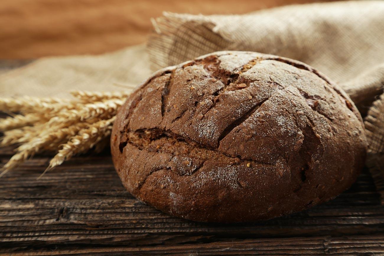 Pão de centeio.