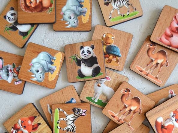 サイトで売っている商品、教育ゲーム「メモリ」(動物の世界)