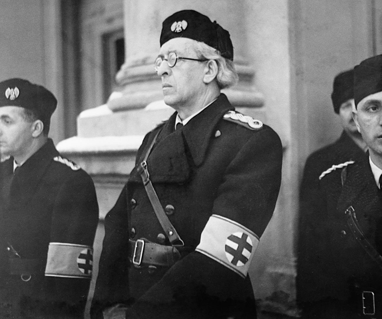 Vojtech Tuka, osovraženi slovaški voditelj, ki je podpiral naciste.