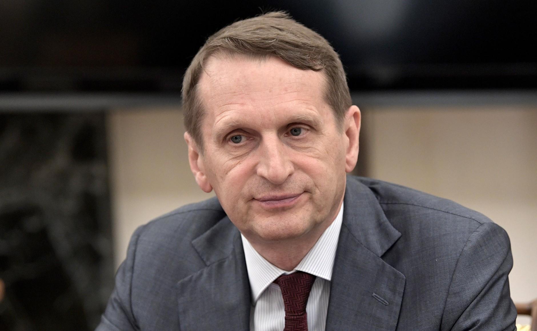 Сергеј Наришкин – директор на Службата за надворешно разузнавање и претседател на Руското историско друштво.