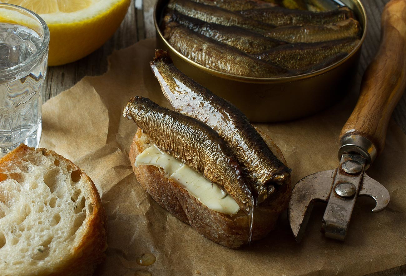 Butterbrot with sprats
