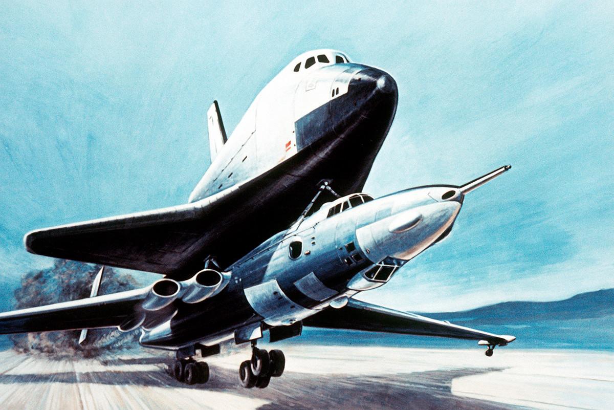 Транспортировка «Бурана». Рисунок из «Soviet Military Power», 1985