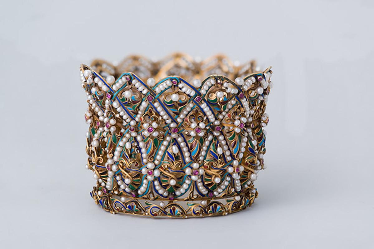 Bracelet manchette. Entreprise de joaillerie d'Ivan Tchitchelev. Moscou. Dernier quart du XIXe siècle