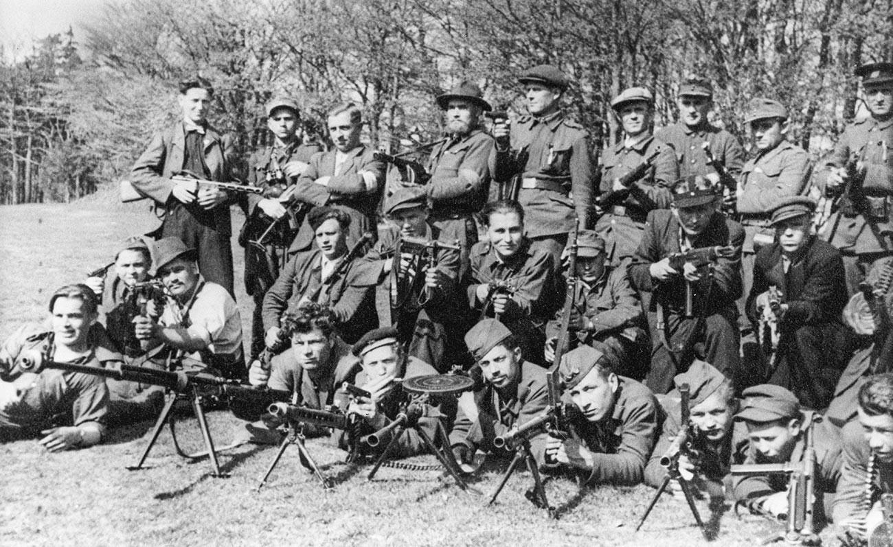 La 2e brigade de partisans slovaques le jour de la Victoire
