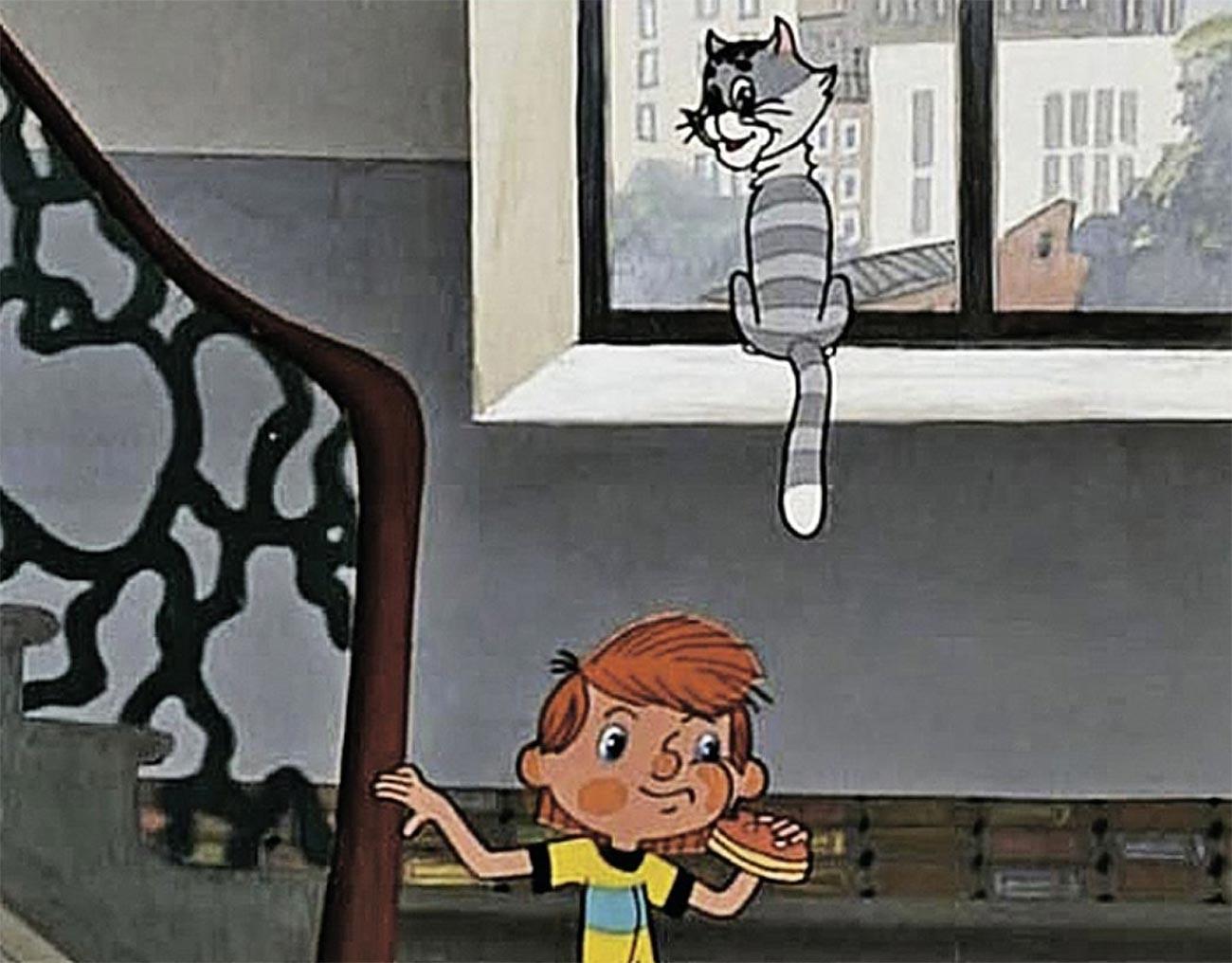 Uno dei personaggi del popolare cartone animato sovietico