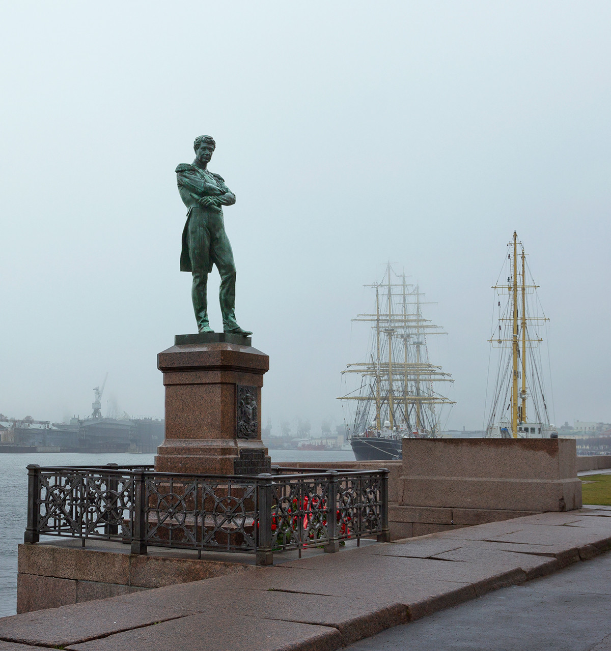 Monument to Ivan Krusenstern in Saint Petersburg