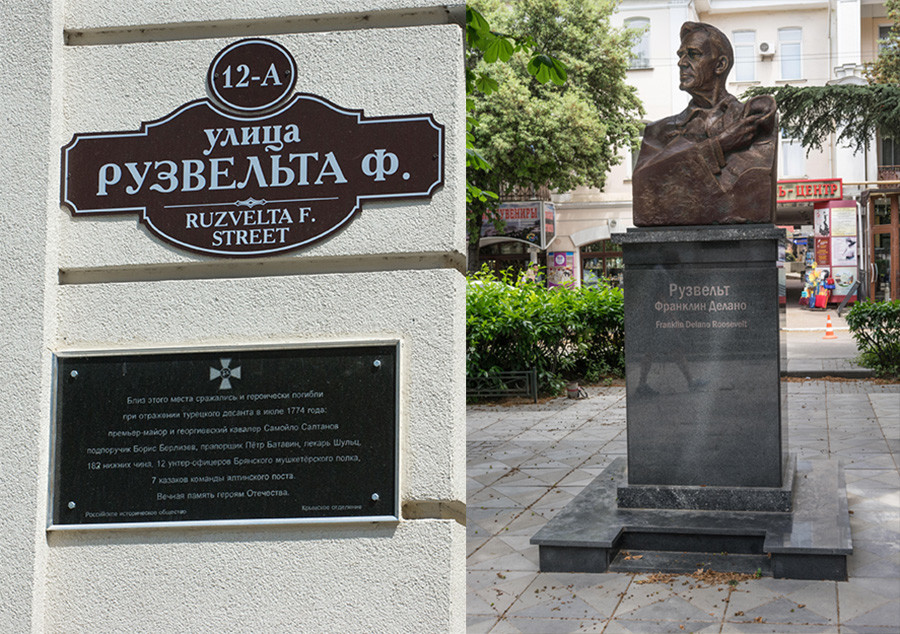 Monument to Franklin Delano Roosevelt on Roosevelt Street, Yalta