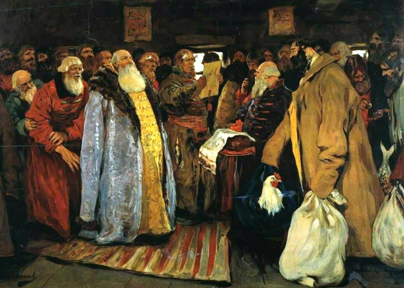 'Kedatangan seorang voevoda' oleh Sergei Ivanov.