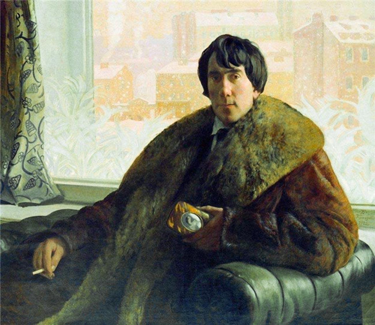 'Potret pematung dan arsitek I. S. Zolotarevsky,' 1922, oleh Boris Kustodiev.