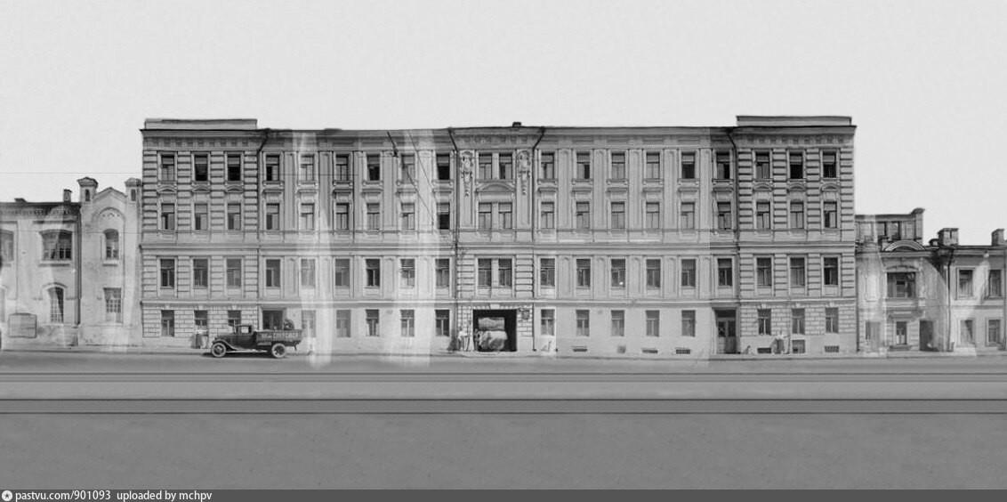 Il civico 10 di via Mokhovaja nel 1935-1937