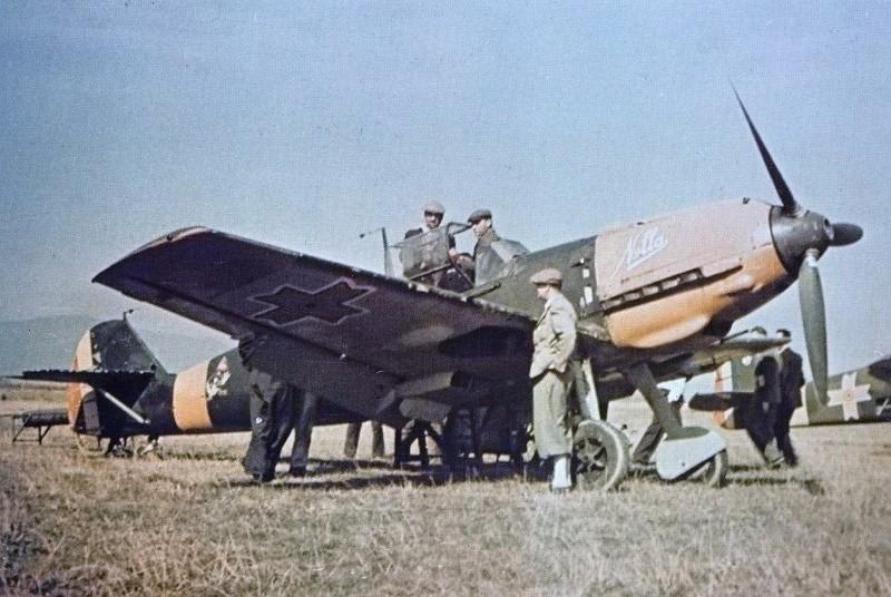 Avião Messerschmitt Bf 109, da Força Aérea Romena em Stalingrado.