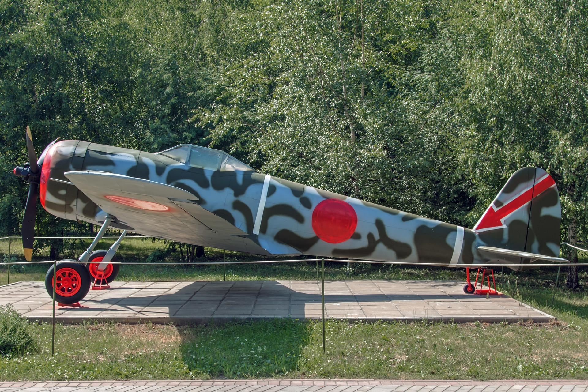 Avião japonês Nakajima Ki-43 no Museu da Grande Guerra Patriótica, em Moscou.