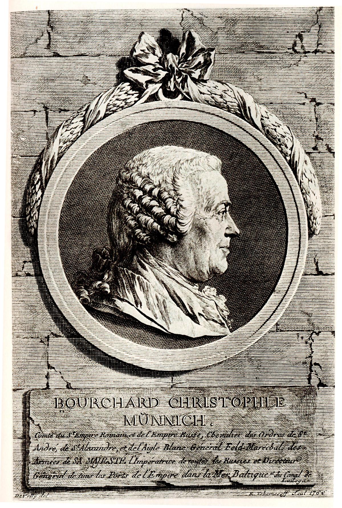 Porträt des Grafen Burkhard Christoph von Münnich (1683-1767)