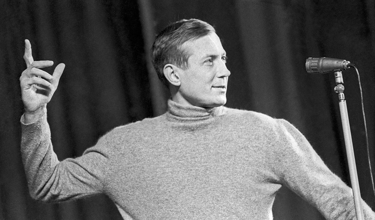 Evgenij Evtushenko sul palco