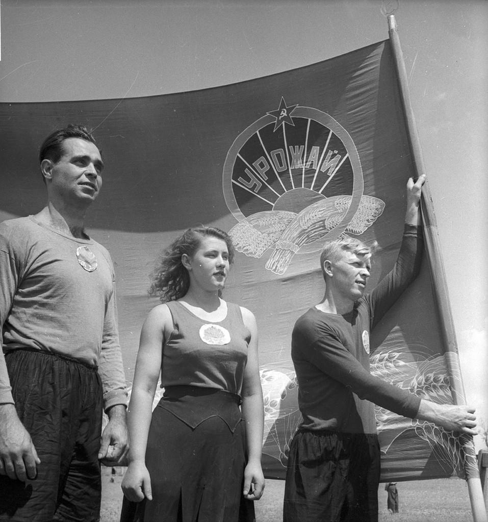 ソ連のスポーツ大会「スパルタキアード」に参加するアマチュアアスリート