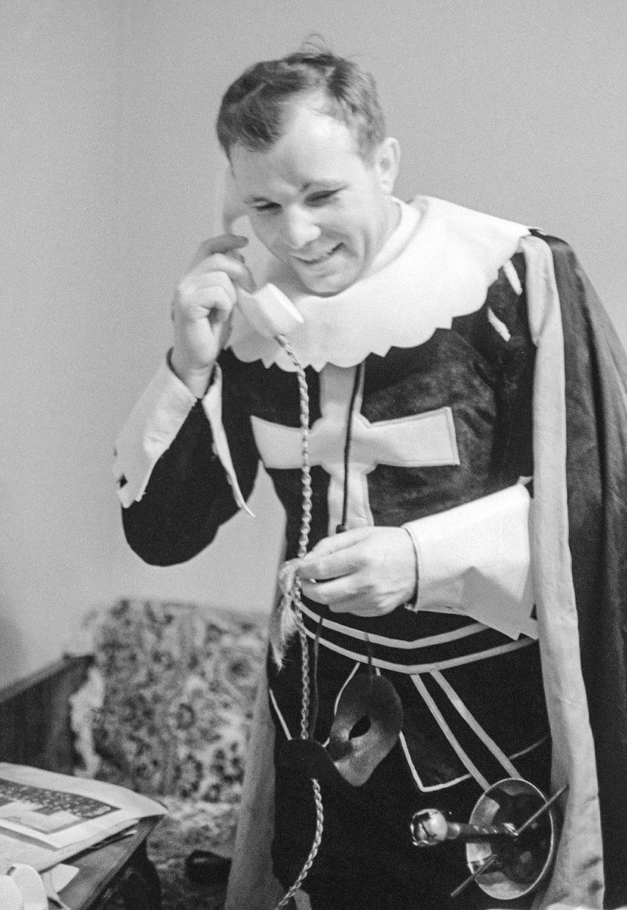 Gagarin in costume, 1965