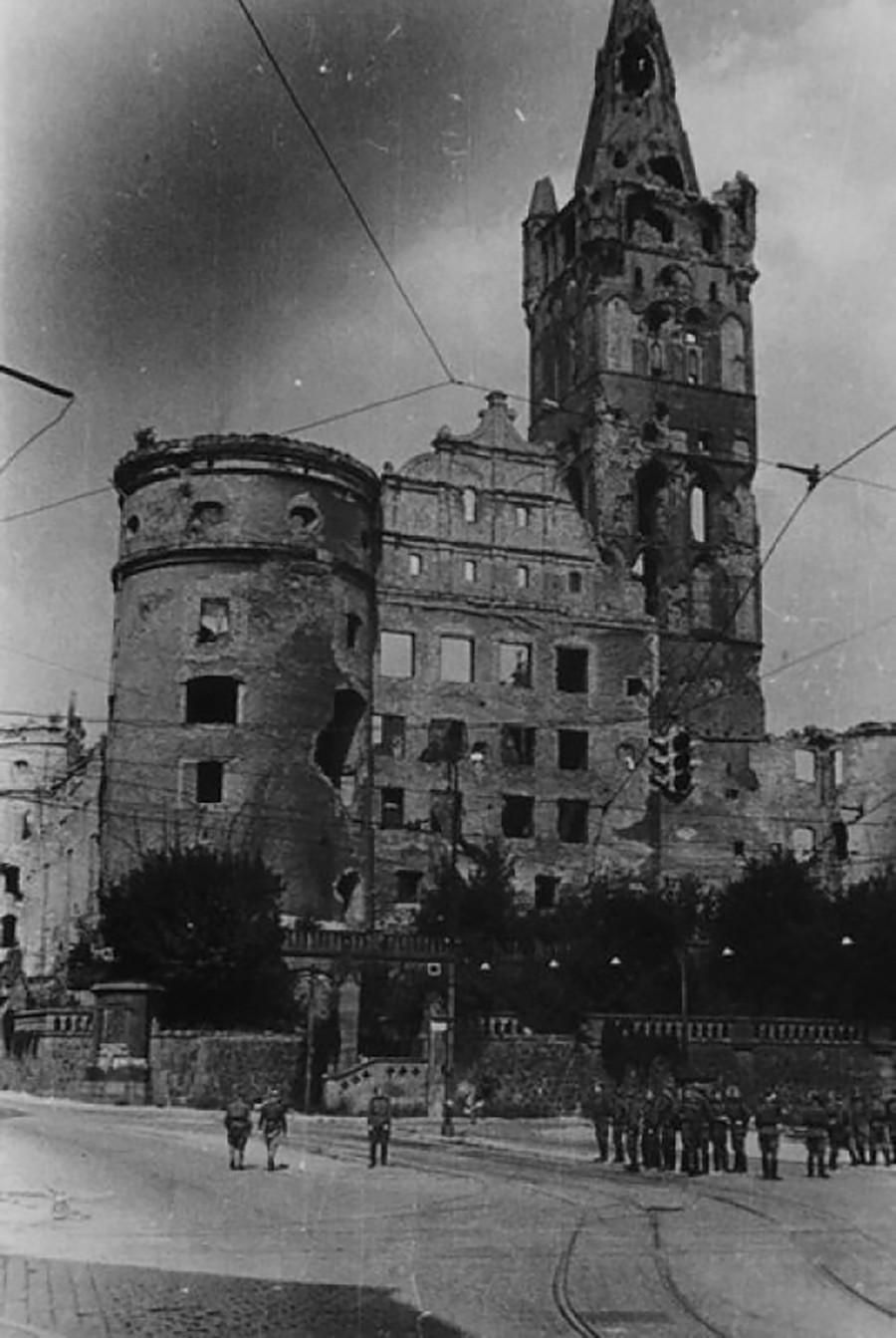 Ruines à Kaliningrad (ancienne Königsberg)