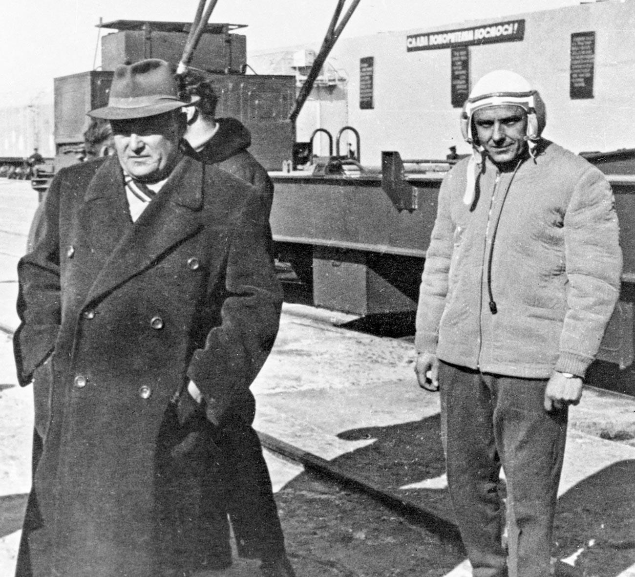 Sergej Koroljov in Vladimir Komarov