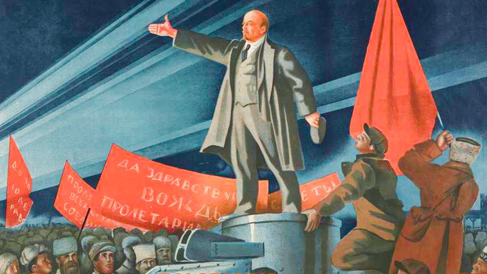 « Vive la révolution socialiste dans le monde ! » 16/IV. Visite de Lénine à Petrograd, 1917