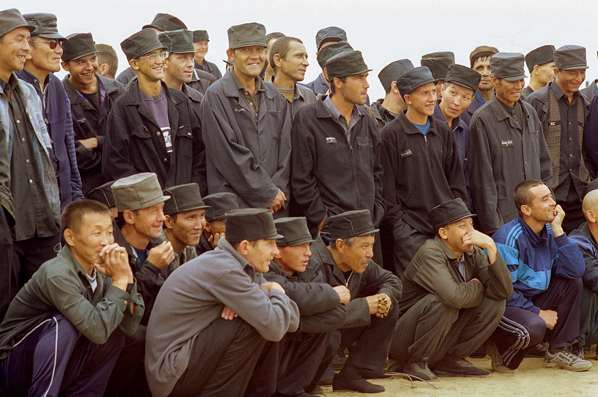BURYATIA, RUSSIA. Spectators during the sports event for inmates of corrective institutions of the republic.