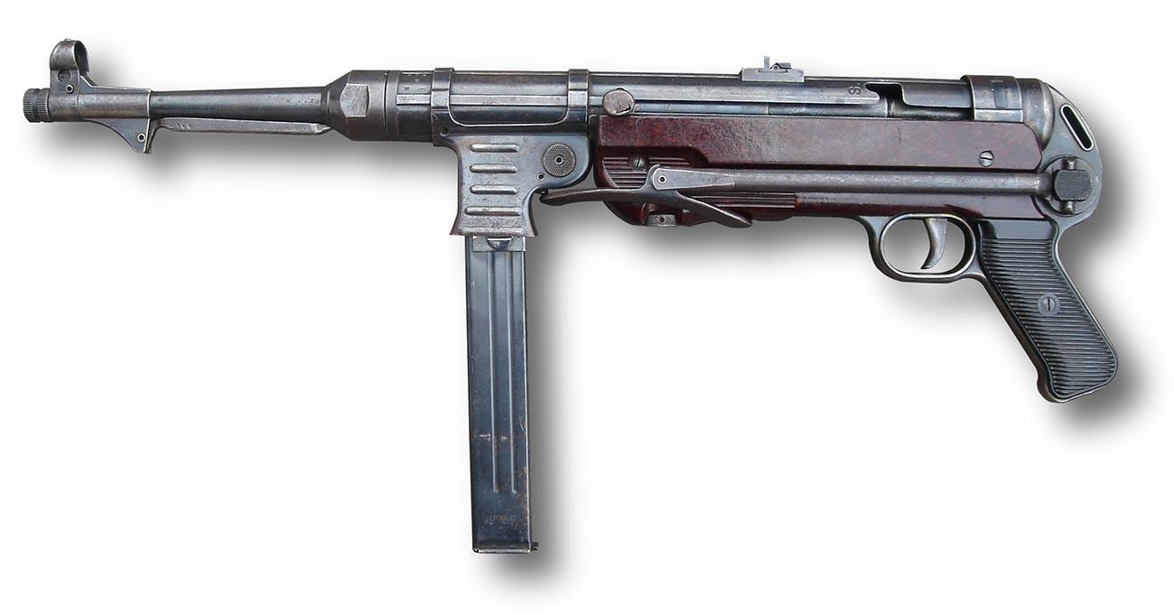 MP-40 Erma, proizvodnja 1943, produženi kundak.