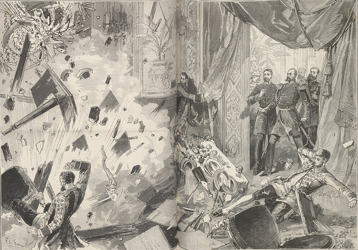 Emperor Alexander II after the explosion, evening of February 5, 1880. From
